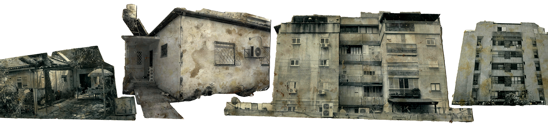 Homes for - My under water homes installation  Injected ink prints coated with wax