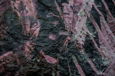 The sea of Umm el - Fahem 2020  Detail Day 23 on the wall  Mixed media, ink injection on 80 gr paper & wax