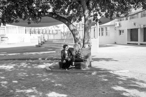 City around school