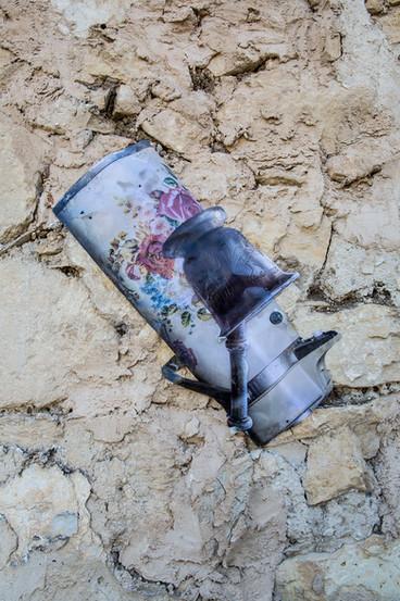 The sea of Umm el - Fahem 2020  Detail Mixed media, inkjet print on 80 gr paper & wax