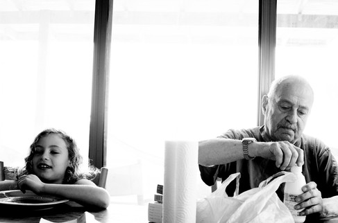 Ruth & Grandpa Avraham 2012