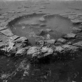 Heavy rain - the first circle Mixed media - Archival Inject print t & wax 100X150 cm  2019/2021