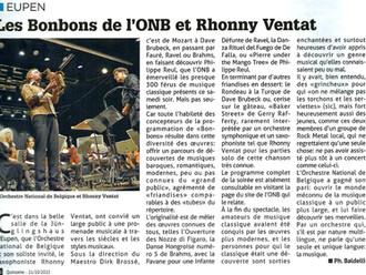 Les Bonbons de l'ONB et Rhonny Ventat