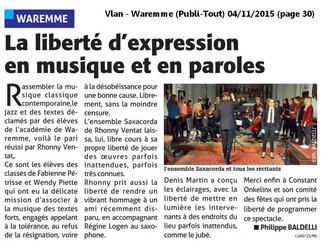 Rhonny Ventat, Saxacorda invitent l'académie de Waremme