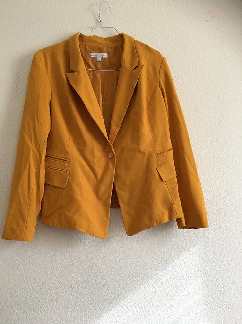 New York & Company Yellow Blazer - Size 18