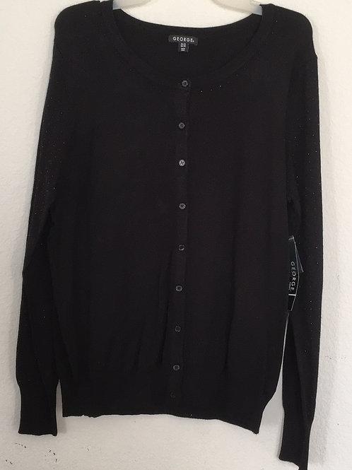NWT George Black Sweater - Size 16/18