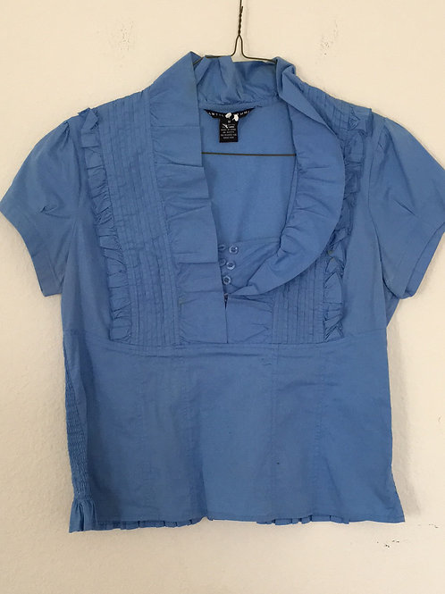 Antilla Femme Blue Shirt - Size Medium