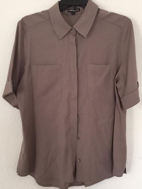 Express Brown Shirt - Size Large