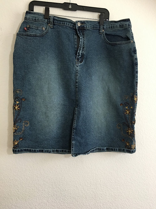 London Blue Jean Skirt - Size 3XL