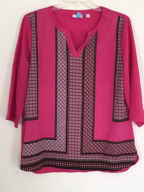 New York & Company Pink Shirt - Size XL