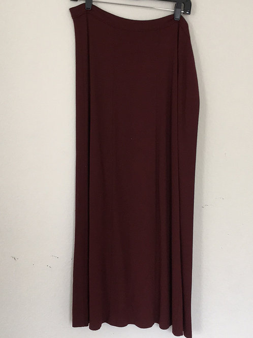 Westbound Maroon Long Skirt - Size 18W