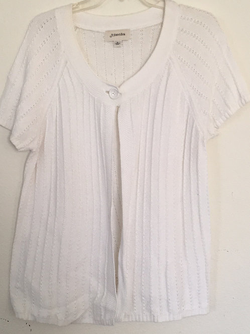 St. John's Bay White Sweater - Size XL