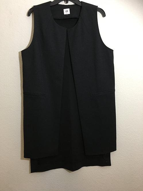 Cabi Black Long Vest - Medium
