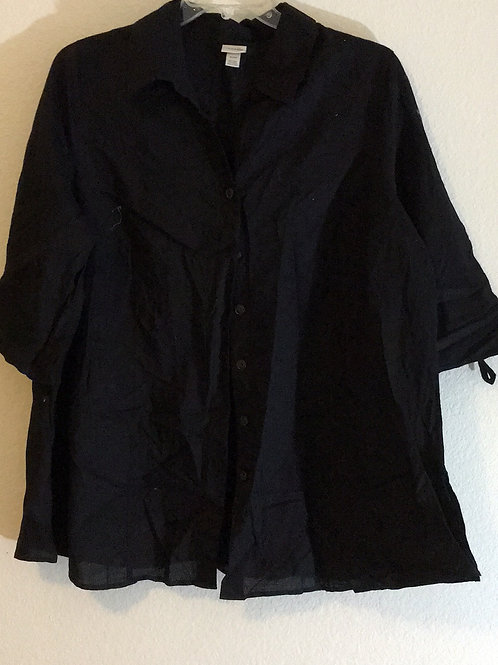 Venezia Black Shirt - Size 22/24