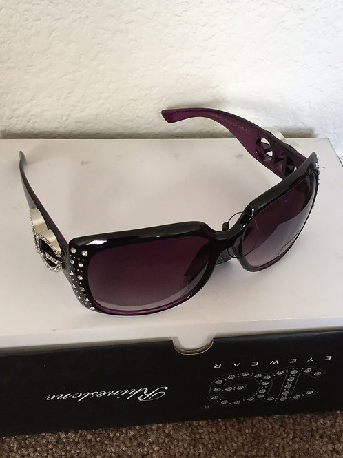 NWT Rhinestone Glasses - Purple