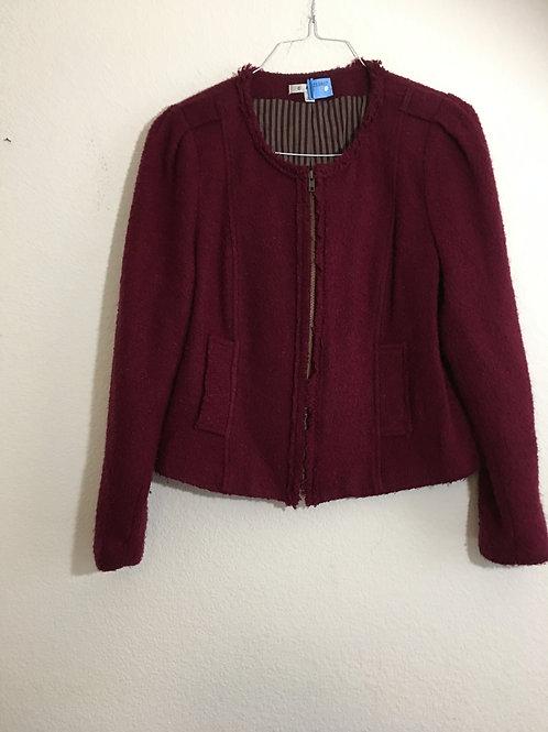 Cabi Maroon Jacket - Size 14