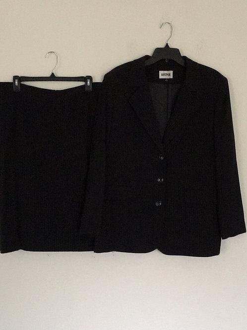 Kasper Black Suit - Size 18