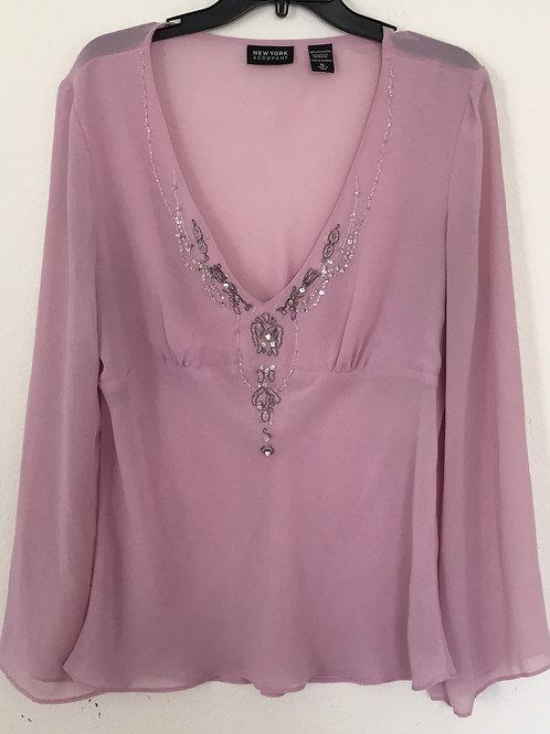New York & Company Lavender Shirt - Size XL