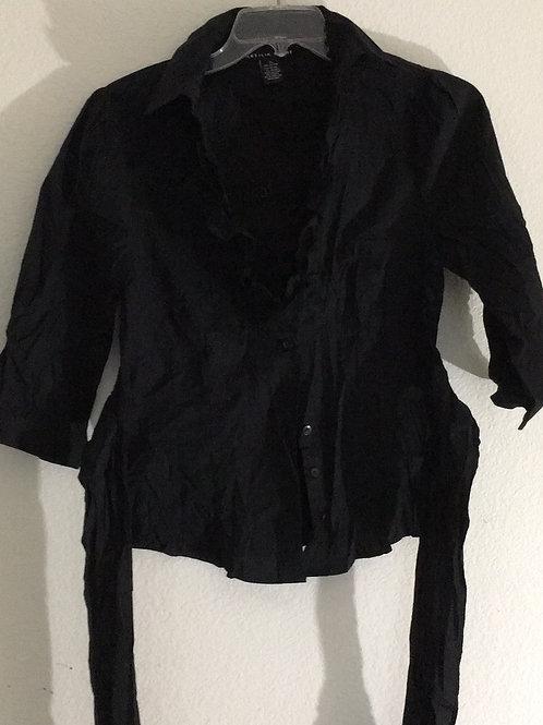Antilia Femme Black Shirt w/Tie - Size XL