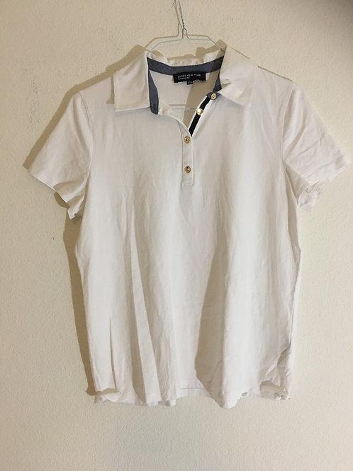 Jones New York White Polo - Size XL