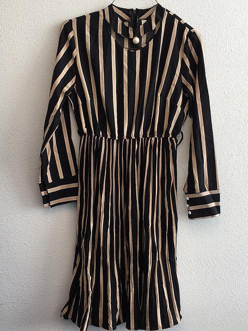 Black & Tan Dress - Size Small