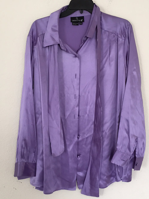 Carole Little Purple Shirt - Size 14