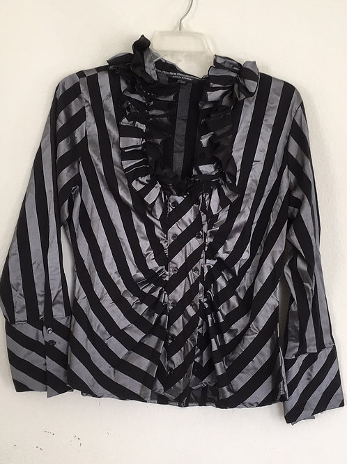 Ashley Stewart Black & Grey Shirt- Size 16