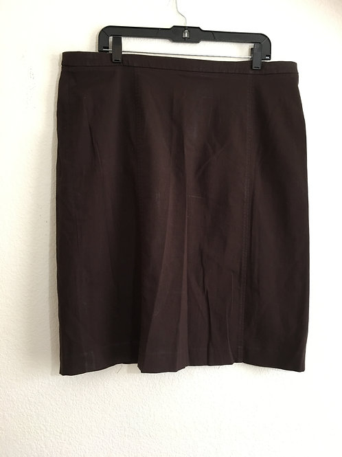 Avenue Brown Skirt - Size 18