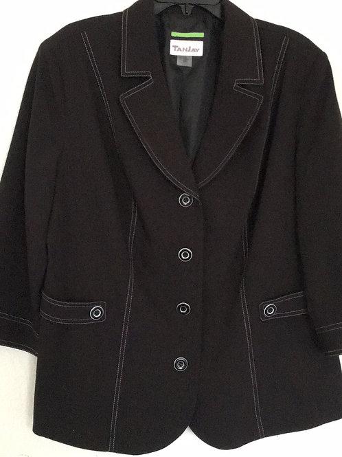 TanJay Black Blazer - Size 16W
