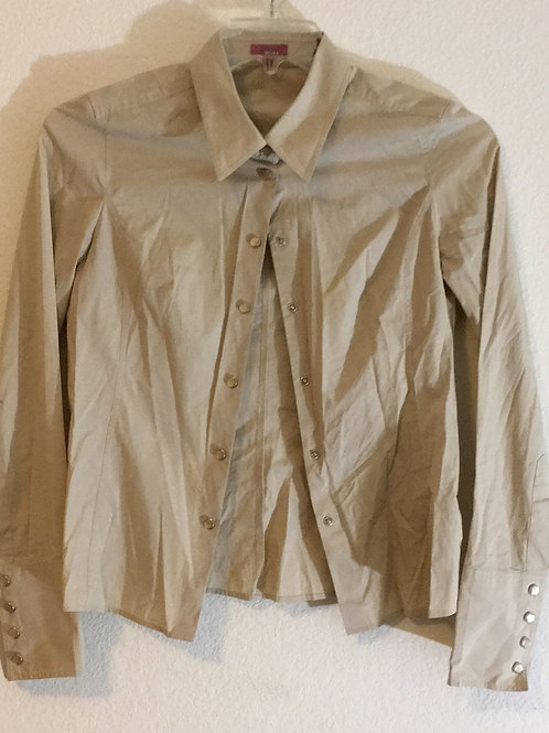 Hugo Boss Tan Shirt - Size Small (38)