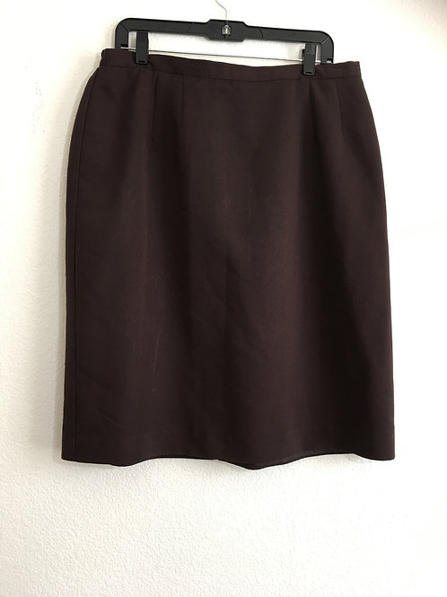Dressbarn Brown Skirt - Size 18