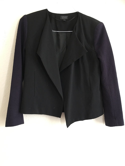 Topshop Purple Sleeve Blazer - Size 8