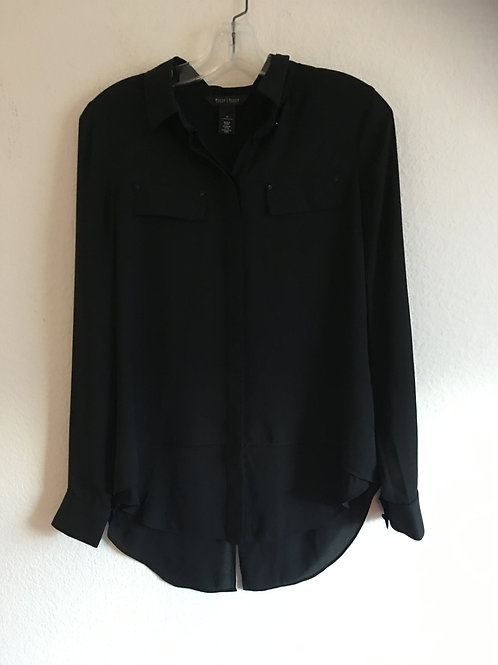 White House Black Market Black Shirt - Size 0