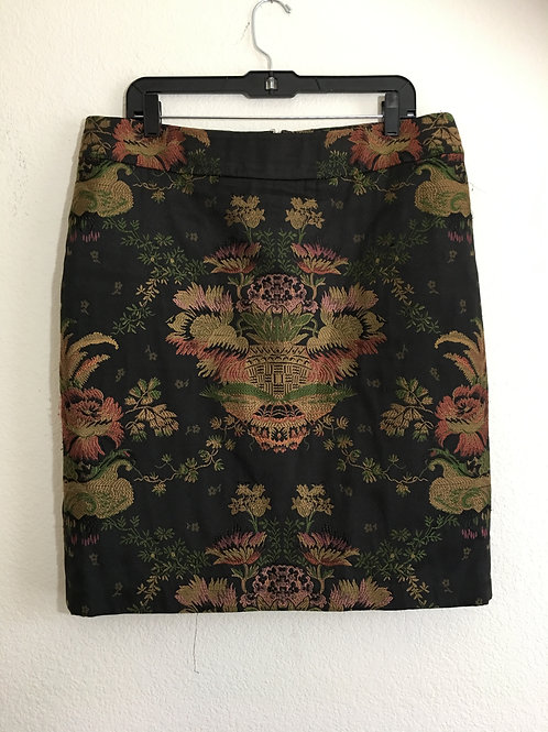 Cabi Chinoiserie Jacquard Skirt - Size 16