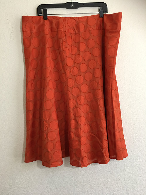 NWT Ashley Stewart Orange Skirt - Size 20