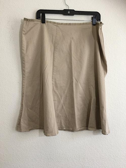 Avenue Tan Skirt - Size 18