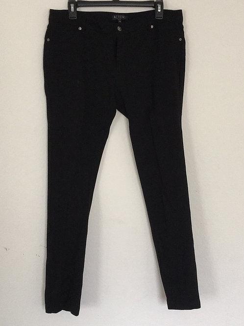 Active Black Stretch Pants - Size XL