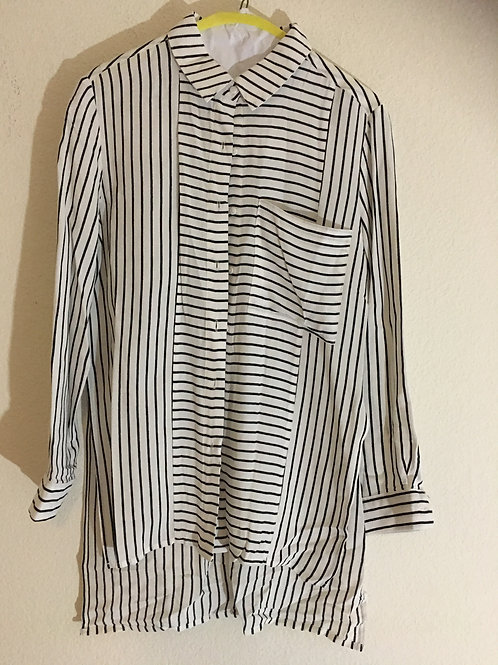 DO+BE White & Black Shirt - Size Small