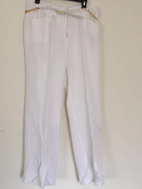 Ashley Stewart White Pants w/Belt - Size 12