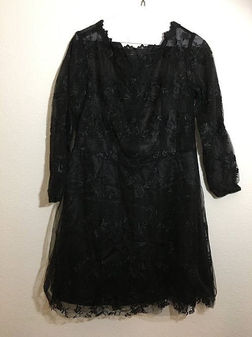 Lace Black Dress - Size 18/20