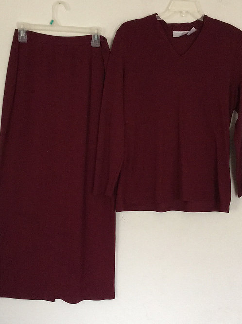 Worthington Knits Maroon Skirt Set - Size XL