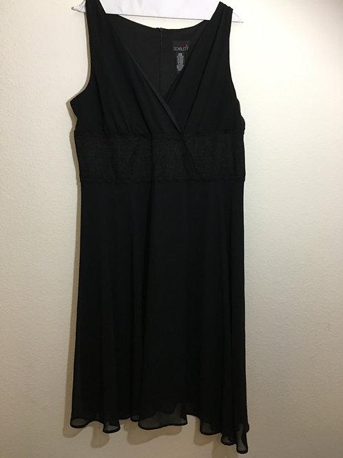 Scarlett Black Cocktail Dress - Size 20