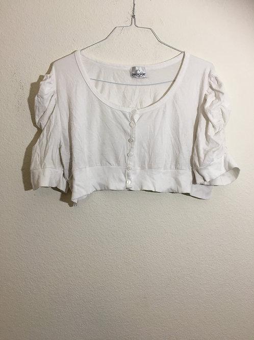 Caren Sport White Sweater - Size XL