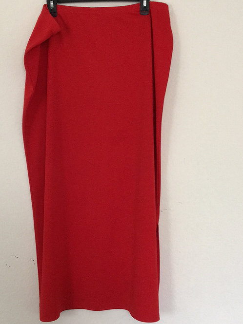 Knitt Mixx Long Red Skirt - Size XL