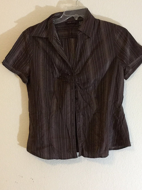 New York & Company Brown Shirt - Size XL