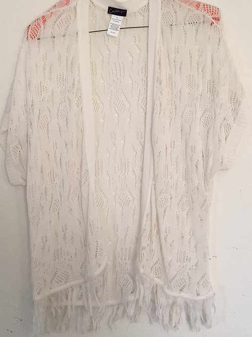 Caren Sport White Sweater - Size 3X