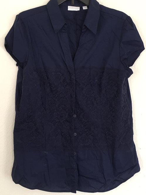 New York & Company Blue Shirt - Size XL