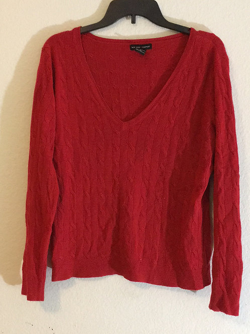 New York & Company Red Sweater - Size XL