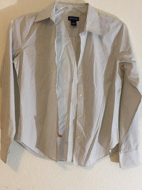Ann Taylor Black Striped Shirt - Size 4