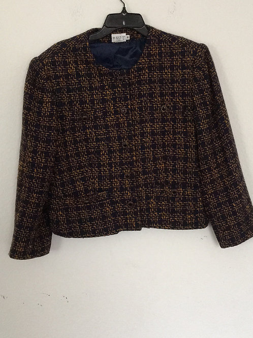 Russ Blue & Brown Blazer - Size 16